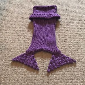 Other - Purple knit infant mermaid tail 0-6 months